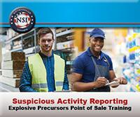 Suspicious Activity Reporting Explosive Precursors Point of Sale Training